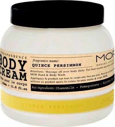 MOR Persimmon Quince Body Cream, $26.95.