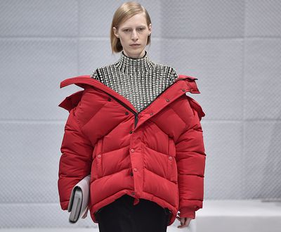<p>The intersection where style and practicality meet is a sweet spot indeed. With fashion's rebel of the moment, Demna Gvasalia appointed to the helm of one of the world's most storied houses, Balenciaga, it was only a matter of time before things got shaken up.</p> <p>And his first port of call, it would seem, is the parka. Enjoying something of a renaissance, the humble parka, usually reserved for snowy peaks and warding off frostbite has become one of the most covetable items of AW16.</p> <p>Stick to modern silhouettes and clean colour palettes and wear off-the-shoulder for maximum impact.</p>
