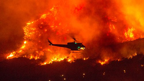 California wildfires: Hikers rescued as blazes rage