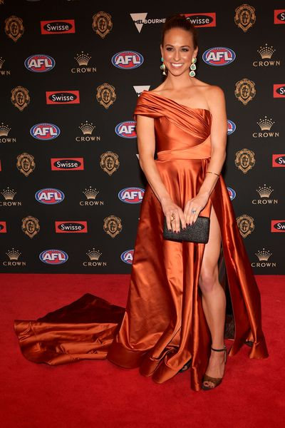 Mardi Dangerfield, wife of Geelong's Patrick Dangerfield, at the 2018 Brownlow Medal, September, 2018