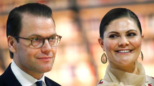 Crown Princess Victoria of Sweden (R) and Prince Daniel of Sweden (L). (EPA)