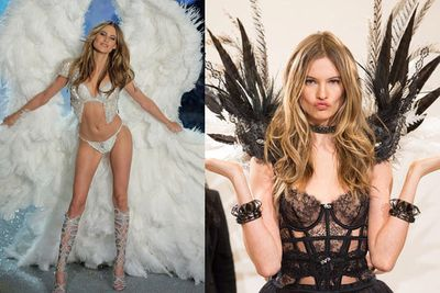 Welcome back, Behati Prinsloo. The Namibian beauty returns to the runway after marrying Maroon 5's Adam Levine.