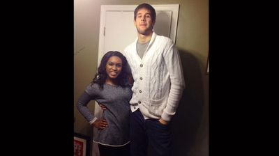 "'I'm 5'4"" while he is 6'10""' (Facebook: Quiana Thomas)"