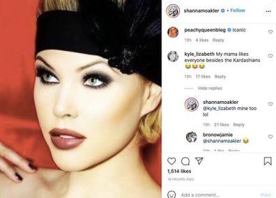 Shanna Moakler, Instagram post, Kourtney Kardashian, fan comment