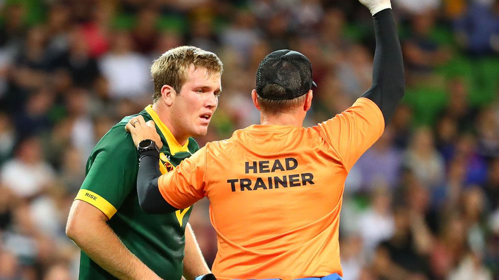 Kangaroos lock Jake Trbojevic suffers World Cup injury blow against England