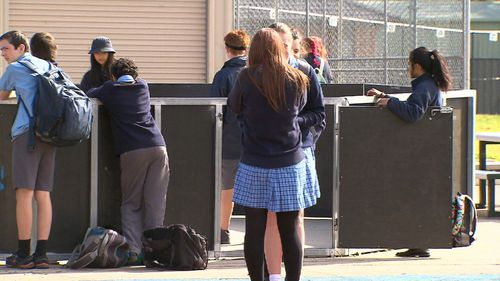 Dr Niki Vincent said private schools need to allow girls to wear shorts and pants in order to avoid limiting their potential. Picture: 9NEWS.