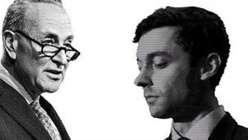 An ad tying Jon Ossoff to Jewish senator Chuck Schumer enlarged the candidate's nose.