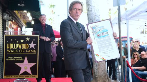 Actor Hugh Laurie gets star on Hollywood Walk of Fame