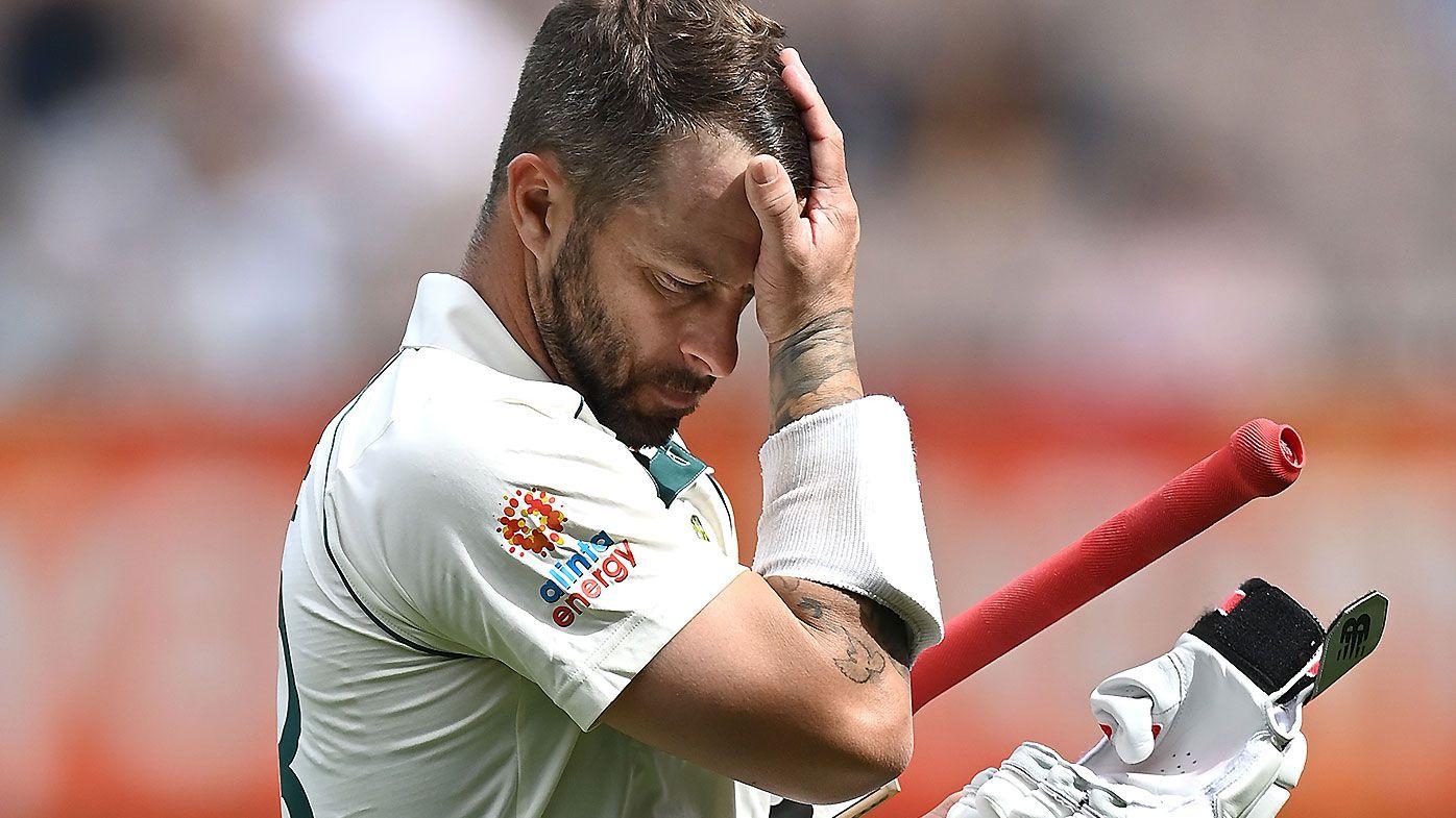 Matthew Wade blasted by former Australian Test stars for 'reckless' dismissal