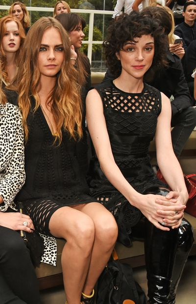 Cara Delevingne and girlfriend St. Vincent.