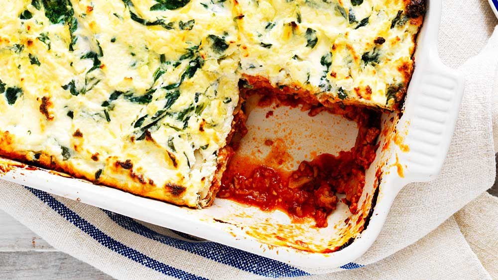 Spinach, ricotta and mushroom lasagne recipe for Australian Mushrooms