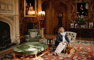 Downton Abbey's Highclere Castle's Countess of Carnarvon Lady Carnarvon