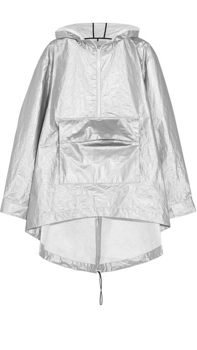 "<a href="" http://www.shopbop.com/laminated-tyvek-hooded-anorak-t/vp/v=1/1589425687.htm?folderID=2534374302196584&amp;fm=other-shopbysize-viewall&amp;colorId=15867""> Oversized Hooded Metallic Shell Rain Jacket, $434.78, T By Alexander Wang</a>"