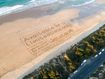 Great Ocean Road, sand art