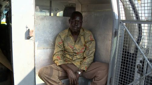Garang Aguern is accused of allegedly sexually touching a NSW paramedic.