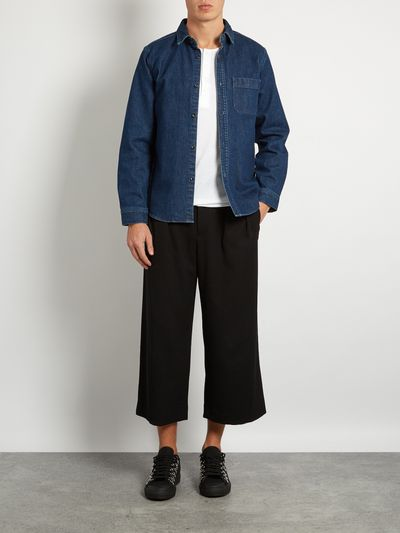 """<p><strong>Leg it</strong></p> <p>JW Anderson wide-leg trousers, $549 at <a href=""""http://www.matchesfashion.com/au/products/J-W-Anderson-Pleated-wide-leg-cropped-trousers--1081609"""" target=""""_blank"""">Matches</a><br> <br> </p>"""