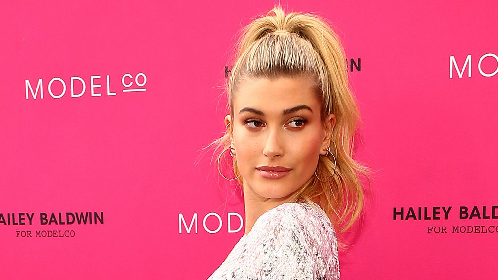 Hailey Baldwin has launched a makeup collection with Australia's ModelCo Cosmetics. Image: Getty.