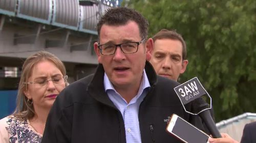 The premier said opposition leader could not be trusted. (9NEWS)