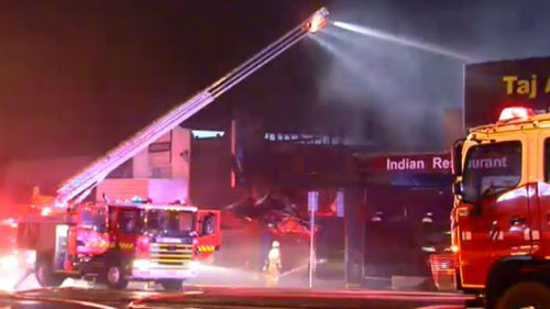 Aerial firefighting trucks had to be called in to contain the blaze. (9NEWS)