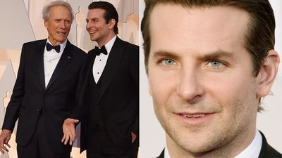 American Sniper director Clint Eastwood and star Bradley Cooper. (Getty Images)