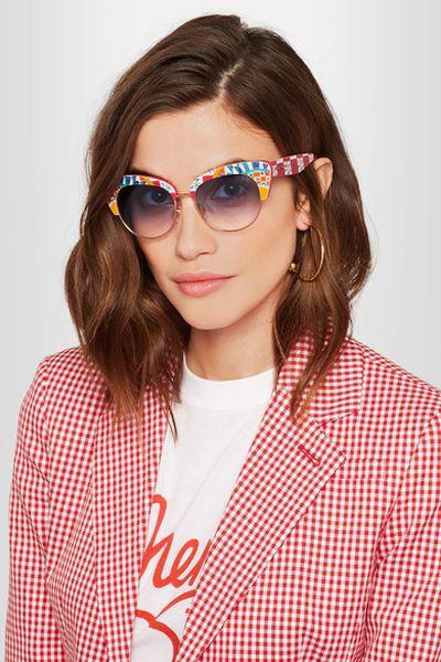"<a href=""https://www.net-a-porter.com/au/en/product/886309/dolce___gabbana/printed-acetate-sunglasses"" target=""_blank"">Dolce &amp; Gabbana Printed Acetate Sunglasses, $317.32</a>"