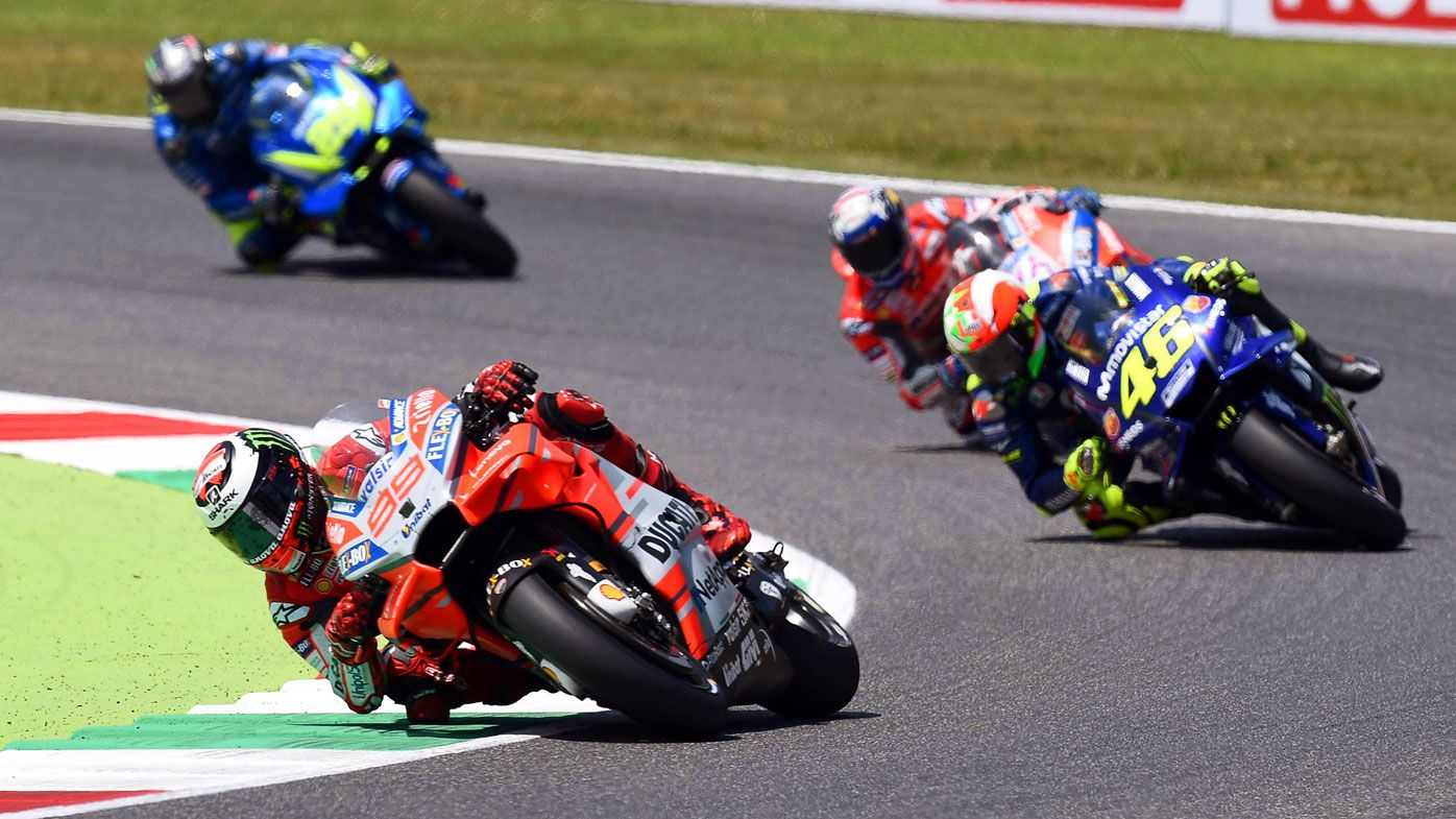 Spain's Jorge Lorenzo wins Italy GP as Marc Marquez crashes out