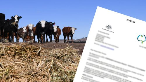 Stock image of NSW drought with composite ACNC document.