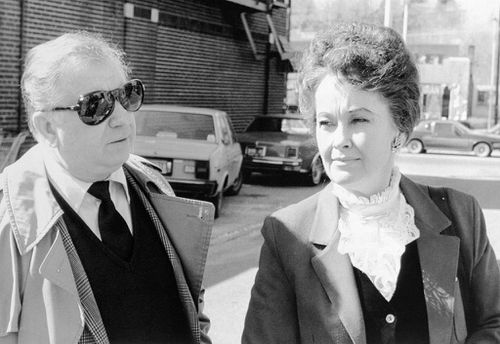 Ed and Lorraine Warren arrives at Danbury Superior Court Ion March 19, 1981, where a grand jury returned an indictment against Arne Cheyenne Johnson in the slaying of Alan Bono.