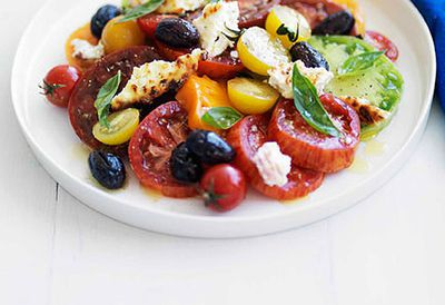 Heirloom tomato salad with ricotta