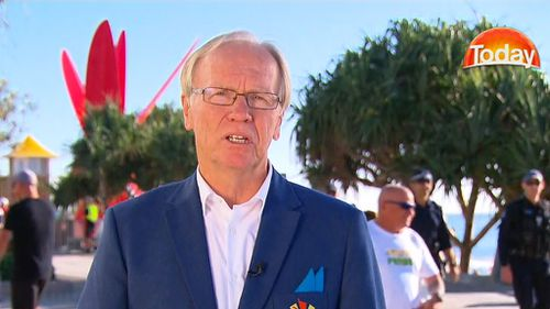 Peter Beattie offered a contrite apology this morning over the stuff-up at the closing ceremony. (9NEWS)