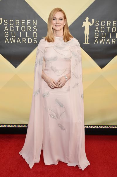 Actress Laura Linney at the 2018 SAG Awards