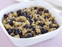 Easy cherry crumble