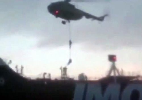 A video supplied by Iran's Revolutionary Guard reporteddly shows Revolutionary Guard Corps boarding the British-flagged tanker Stena Impero in the Strait of Hormuz, Iran on 19 July, 2019.