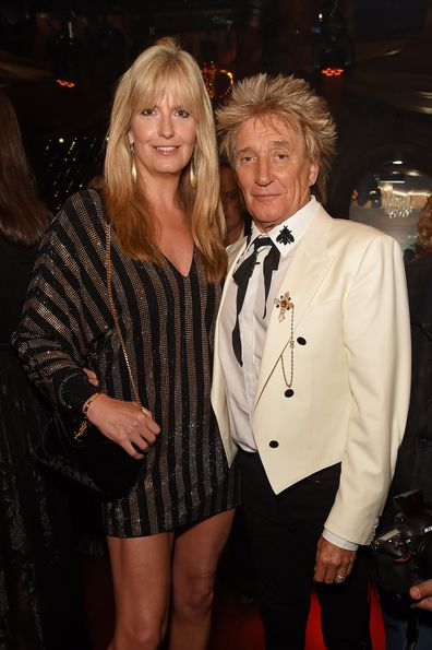 Penny Lancaster and Sir Rod Stewart attend the 50th Anniversary of Tramp on May 23, 2019 in London, England. (Photo by David M. Benett/Dave Benett/Getty Images)