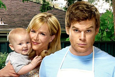 <B>How she died:</B> God, this death was <I>horrible</I>. In the season four finale, Dexter (Michael C. Hall) iced the Trinity Killer (John Lithgow), a serial murderer who dispatched several of his victims by slicing open their arteries and bleeding them out in a bathtub. But when Dex returned home, he discovered Trinity had managed to squeeze in one last victim before his death: Dexter's devoted wife Rita (Julie Benz), who lay dead in the bathtub. Chills.