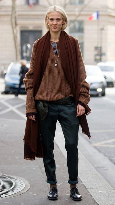<p>In Haider Ackermann during Paris Fashion Week.</p>