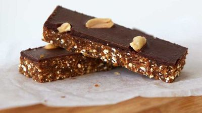 """Sickers Bars and hot says just say Australian summer to us, try a healthier version with<a href=""""http://kitchen.nine.com.au/2016/10/27/16/18/urban-orchards-raw-snickers-bar"""" target=""""_top"""">Urban Orchard's raw not-snickers bar</a>recipe"""