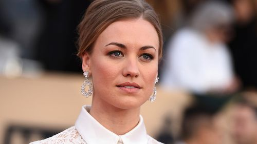Australian actor Yvonne Strahovski has scored a supporting actress Emmy nomination for her role in The Handmaid's Tale. Picture: AAP