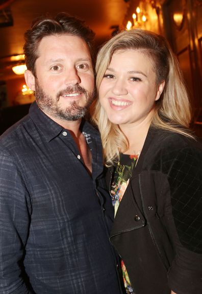 Kelly Clarkson and Brandon Blackstock in 2015.
