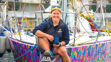Aussie sailor Lisa Blair. (Facebook/Koop's Pics)