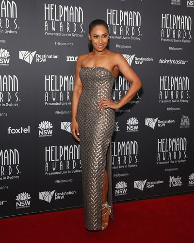 Paulini in Ziolkowski at the Helpmann Awards 2017, Capitol Theatre, Sydney.