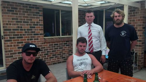 The four friends, Todd Sellars, Lachlan Hewitt, Kurt Bratby and Will McGovern. (Supplied)