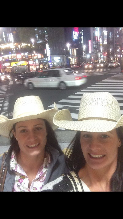 Getting lost in downtown Tokyo.