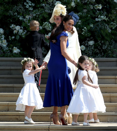 Jessica with her daughter Ivy who was a flower girl at the royal wedding