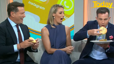 Campbell was left shocked when green liquid poured out. Stefanovic couldn't contain his laughter.