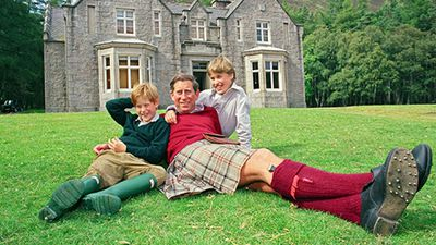 Prince Charles and his sons, 1990s.