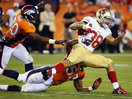 Jarryd Hayne in the 49ers' pre-season game versus the Denver Broncos