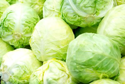 Cabbage: 2.79g sugar per 100g