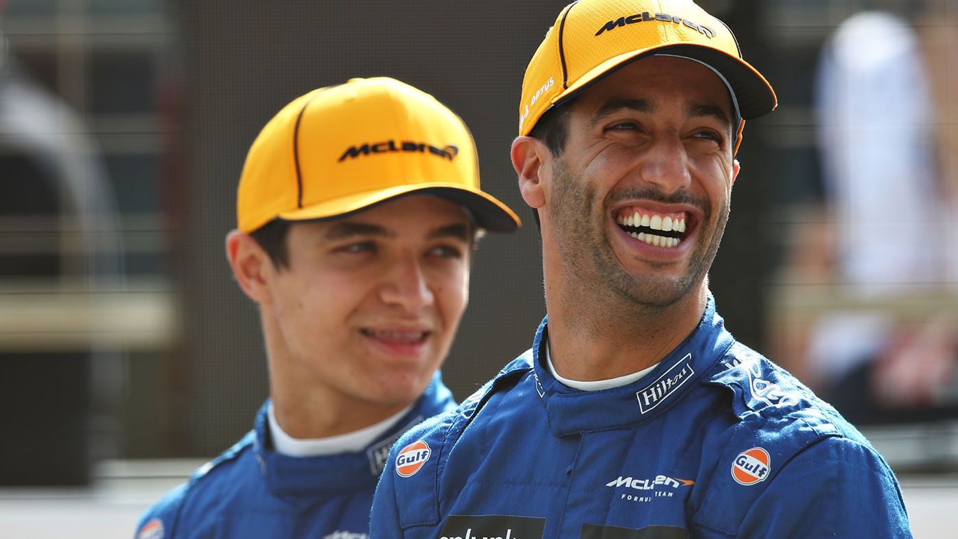Daniel Ricciardo (right) with McLaren teammate Lando Norris.