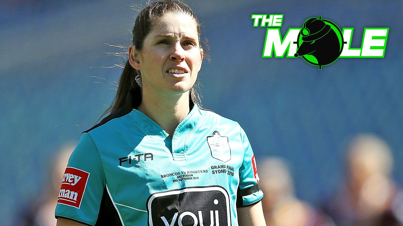 Referee Kasey Badger watches on during the 2018 NRL Women's Premiership Grand Final